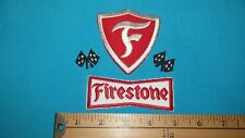 ** RARE LOT 70S FIRESTONE RACING TIRE NASCAR INDY MOTOCROSS DRAG PATCH CREST **
