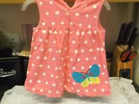 NEW BABY GIRLS PRETTY FLORAL BUTTERFLY SUMMER DRESS 3-6 MONTHS
