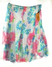 Ruby Rd Womens Spring Blooms Multi Color Floral A Line Skirt Size XL