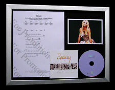 BRITNEY SPEARS Toxic GALLERY QUALITY MUSIC CD FRAMED DISPLAY+EXPRESS GLOBAL SHIP
