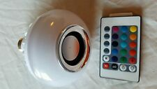 LED RGB E27 Bluetooth Control Smart Music Speaker Color Light Bulb US Seller