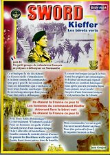 WW2 - Carte postale 15X21 - SWORD - KIEFFER, les Bérets verts