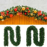 9ft Green Artificial Christmas Garland Wreath Xmas Tree Fireplace Decoration New