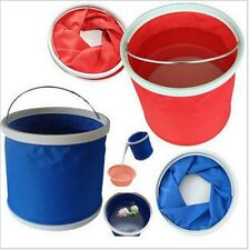 Outdoor Camping Fishing Car Washing Folding Collapsible Barrel bucket 11L CAR026