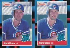 (2) Mark Grace - 1988 Donruss - # 40 - ROOKIE - FREE SHIPPING!