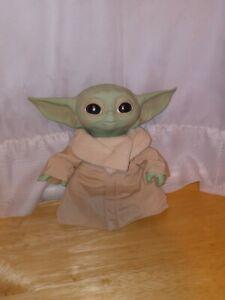 Star Wars Mandalorian The Child Baby Yoda Talking Plush Toy Hasbro Works!
