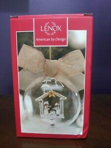 "LENOX American By Design CRYSTAL WONDER Nativity Ornament 4"""