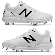 New Balance 4040v5 White Metal Baseball Cleats - Low Adult Men's L4040TW5
