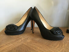 Chaussures talons  ROBERT CLERGERIE  cuir noir   taille 37,5 comme neuves