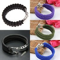 Outdoor Paracord Parachute Rope Bracelet Wristband Survival Hiking Climbing