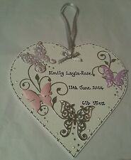 Handmade Heart Baby Decorative Plaques & Signs