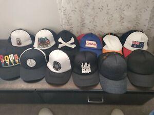 Bulk 12 X Hat Snap Back Cap Trucker various brands Rip Curl Trigger Bros Animal