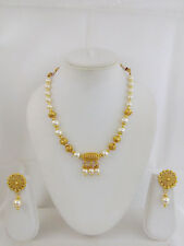 New Indian Traditional Jewelry Mala Necklace Set Bollywood Ethnic Gold Plated