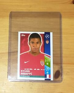 TOPPS CHAMPIONS LEAGUE 2017/18 ~ MBAPPE  figurina sticker n. 248 Rookie
