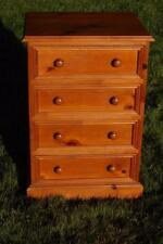 Rustic Solid Pine Four Drawer Storage Unit Bedside Chest Of Drawers