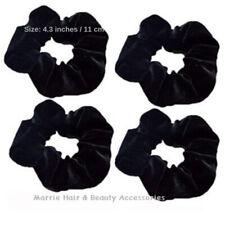 4 * Black Velvet Scrunchie Hair Elastics Hair Bobbles Hair Bands