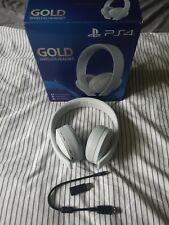 Playstaion Gold Wireless Headset White original Box