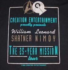Star Trek Captain Kirk Spock 25 Year Mission Tour vintage t shirt XL 50/50
