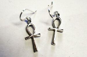 Ohrringe ANKH Talisman Amulett ECHT Silber 925 Symbol Schutzsymbol Mystik SS268