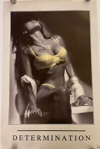 Determination Female III Sexy Lady Poster 34-1/2 x 22-1/4 1991 Man Cave Girl Hot