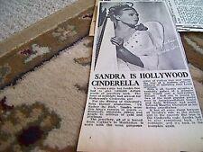 67-5 ephemera 1964 picture article sandra dee cinderella actress