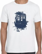 Dr Who T Shirt Tardis Print Inspired Mens/Ladies Tee Top Doctor Who