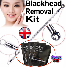 Blackhead Pore Peel off Mask x3 And Extractor Tool Set Spot Removal Mineral Mud