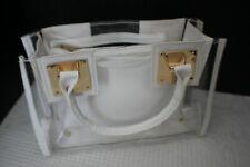 2 Piece Clear Transparent Tote Handbag ~ Crossbody Shoulder Bag ~ Bag and Pouch