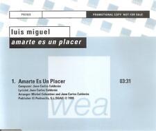 LUIS MIGUEL - AMARTE ES UN PLACER CD SINGLE PROMO 1999 1 TRACK