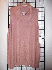 Catherine sleeveless sweater top size 4X 30/32W