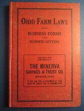 1910 Book - OHIO FARM LAWS - Minerva Ohio - OH