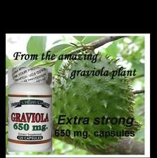 Graviola--Amazing Rainforest Discovery! Strong 650mg. Caps Free Shipping