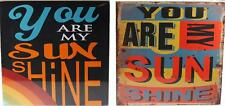 Set Of 2 You Are My Sunshine Bright Bold Retro Style 30cm Wall Art Pictures