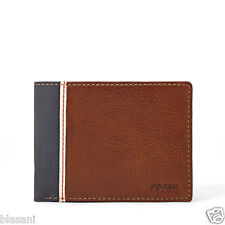 Fossil Original ML330988200 Brown Elgin Internat Traveler Leather Men's Wallet