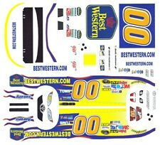 #00 Best Western David Reutimann 2011 1/64th Scale Slot Car Waterslide Decals