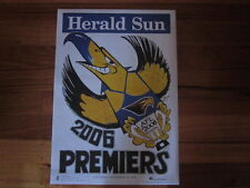 WEST COAST EAGLES HERALD SUN 2006 PREMIERS WEG POSTER
