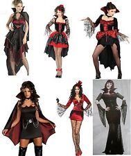 twilight vampire diaries Ladie VAMPIRE COSTUME GENUINE UK SIZES 6-16 HALLOWEEN