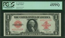 U.S. 1923  $1 LEGAL TENDER BANKNOTE FR-40 PCGS CERTIFIED EXTREMELY FINE XF45-PPQ