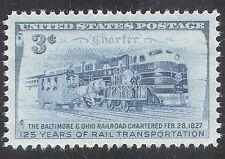 USA 1952 Trains/Steam/Rail/Railways/Horses/Locomotive/Transport 1v (n25158)