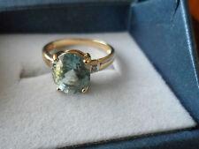 BEAUTIFUL 18K YELLOW GOLD PARAIBA TOURMALINE DIAMOND GOLD RING 2.08CT EYE CLEAN'