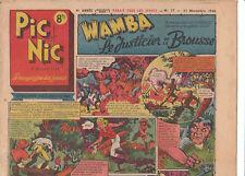 PIC et NIC n°17 - 1946.Niezab, Brantonne. TBE