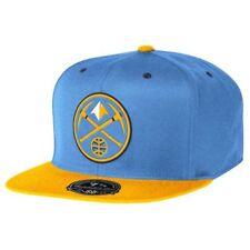 85f2d203d6d DENVER NUGGETS NBA (MITCHELL   NESS) STRAIGHT BILL FITTED HAT BLUE SZ 7 1