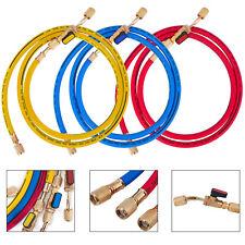 "29985 3-Pak (RYB) 60"" PLUS II Hoses w/ Compact Ball Valves Charging Hose"