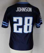 JOHNSON #28 Tennessee Titans American Football Jersey Shirt Youths Medium NFL