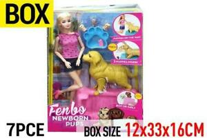 Doll and Puppy Toy set 3 puppies included Value Pack Age 3+ Christmas Gift AU PO