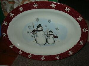 Royal Seasons Stoneware Snowman Dinnerware accessories