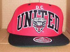 NEW ADIDAS MLS D.C. United Soccer Flat Brim Snapback Baseball Hat Cap  NWT