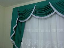 Elegant Curtains with Swags