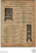 1913 PAPER AD 2 Sided Shapleigh Hardware Clothes Wringer Store Display
