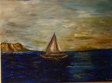 "Original ""Blue Mist"" Acrylic on Canvas by Lynn Doelger"
